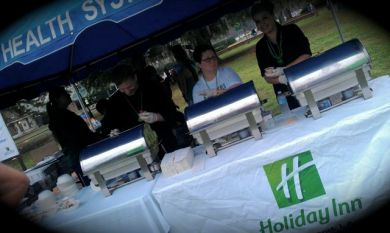 The Holiday Inn serving line